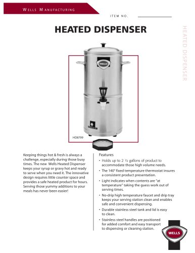 Heated Dispensers:HD8799