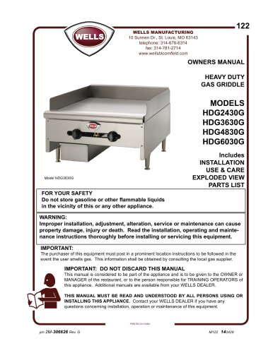 HEAVY DUTY GAS GRIDDLE
