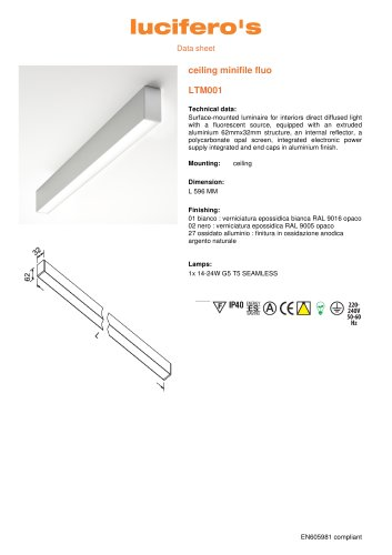 ceiling minifile fluo