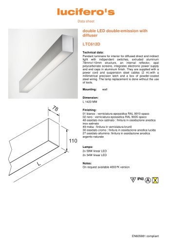 double LED double-emission with diffuser