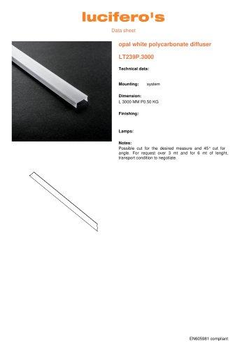 File H Opal white polycarbonate diffuser