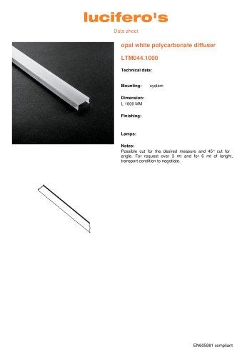 opal white polycarbonate diffuser