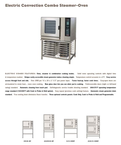 Electric convection combo steamer oven