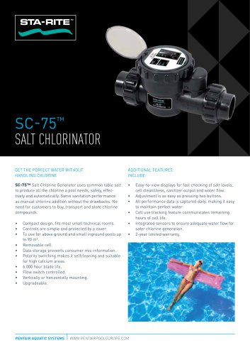 SC-75™ salt chlorinator