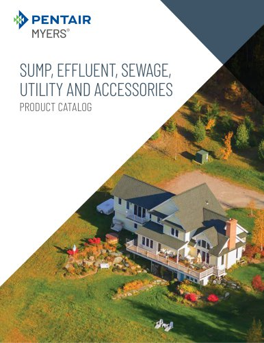 SUMP, EFFLUENT, SEWAGE, UTILITY AND ACCESSORIES
