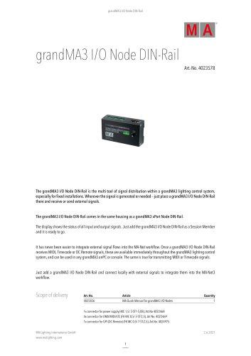 grandMA3 I/O Node DIN-Rail