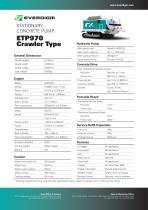 STATIONARY CONCRETE PUMP ETP970 Crawler Type
