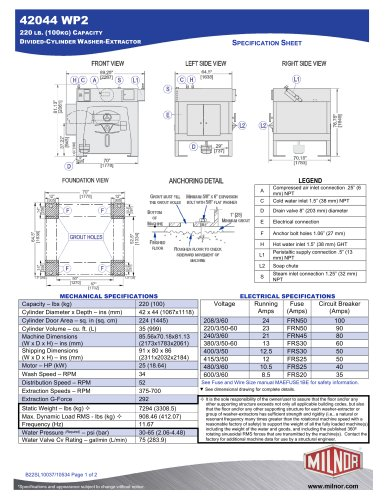 72044 WP2 - Milnor - PDF Catalogs | Doentation | Brochures on