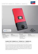 SUNNY BOY 2000HF-US / 2500HF-US / 3000HF-US