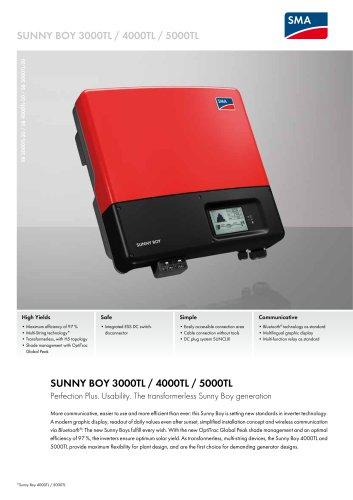 Sunny Boy 3000TL / 4000TL / 5000TL