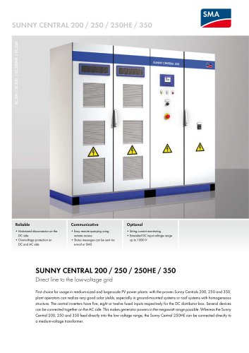 SUNNY CENTRAL 200 / 250 / 250HE / 350