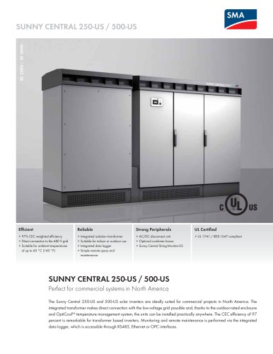 SUNNY CENTRAL 250-US / 500-US