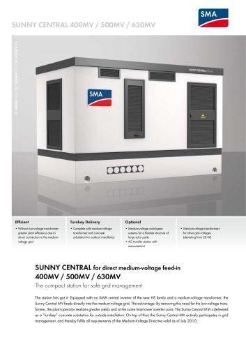 SUNNY CENTRAL 400MV / 500MV / 630MV