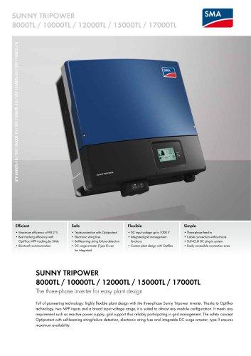 SUNNY TRIPOWER 8000TL / 10000TL / 12000TL / 15000TL / 17000TL