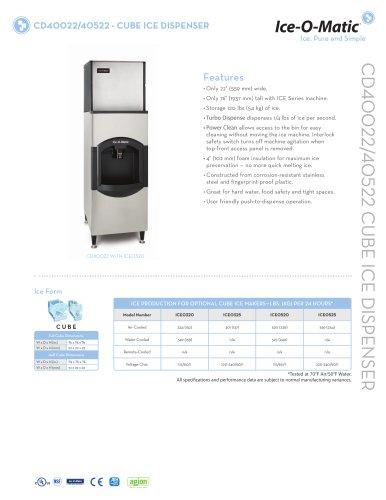 CD40022/40522-Cube Ice Dispenser