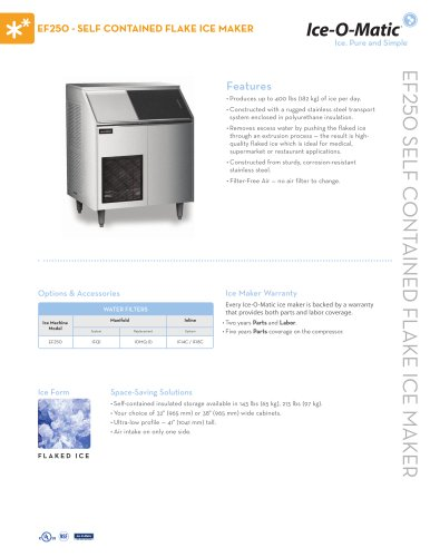 EF250 Self-Contained Flake Ice Maker