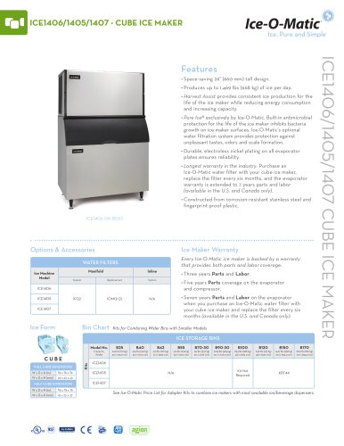 ICE1400-Modular Cube Ice Machine