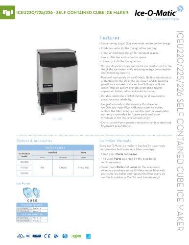 ICEU220-Self-Contained Cube Ice Machine
