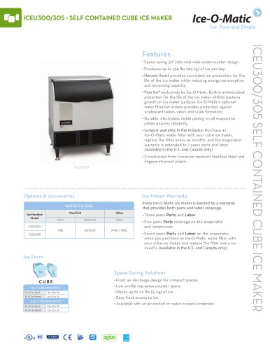 ICEU300-Self-Contained Cube Ice Machine