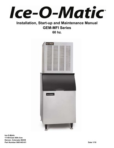 Installation, Start-up and Maintenance Manual