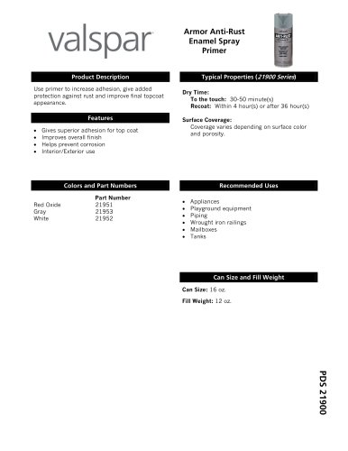 Valspar® Anti-Rust Armor Spray Primer