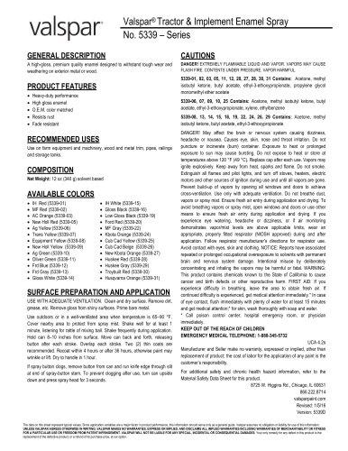 Valspar® Tractor & Implement Enamel Spray