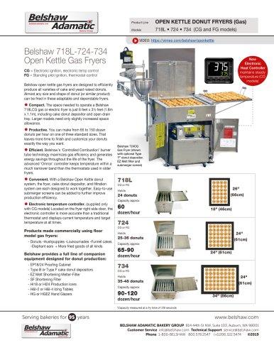 Belshaw 718L-724-734 Open Kettle Gas Fryers