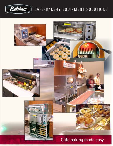 Belshaw Cafe Bakery Equipment solutions- brochure North America