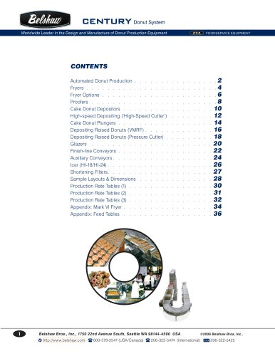 Belshaw Century System- product guide