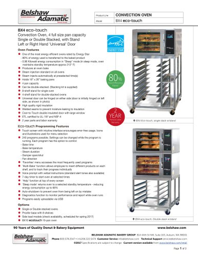 BX4E Eco-touch Convection Oven