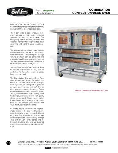 Combination deck+ Convection oven