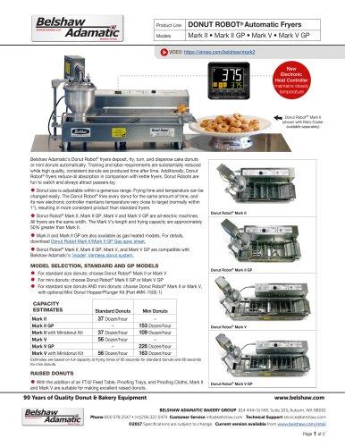 DONUT ROBOT® Automatic Fryers