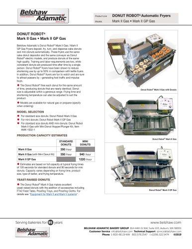 DONUT ROBOT® Mark II Gas • Mark II GP Gas