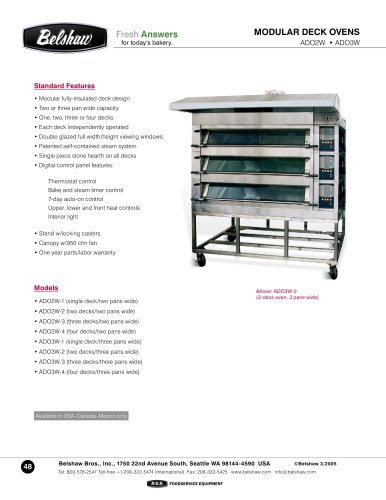 Modular deck ovens