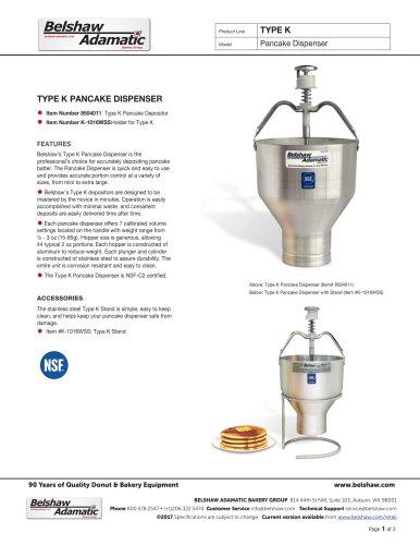 Type K Pancake Dispenser