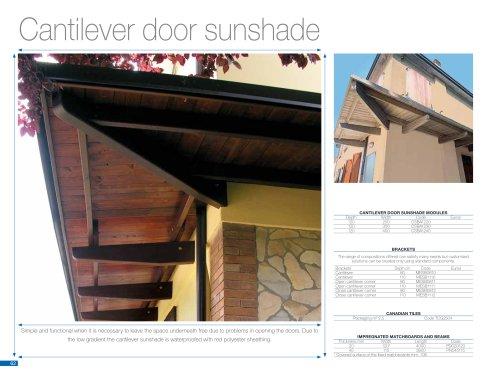 Cantilever door sunshade