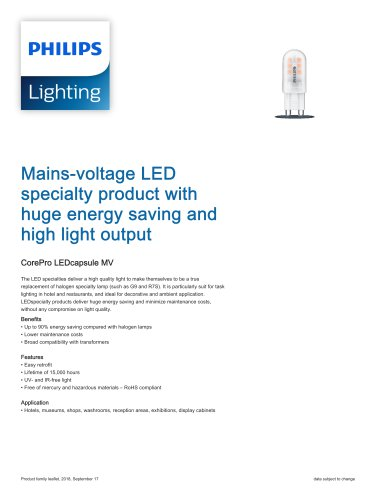 CorePro LEDcapsule MV