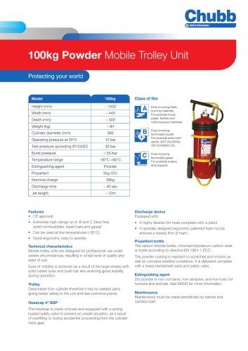 100kg Powder Mobile Trolley Unit