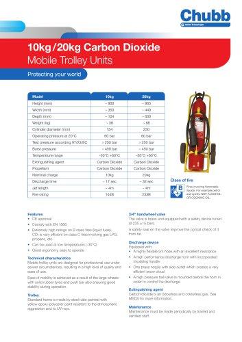 10kg / 20kg Carbon Dioxide Mobile Trolley Units