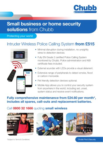 Small business or home security solutions from Chubb