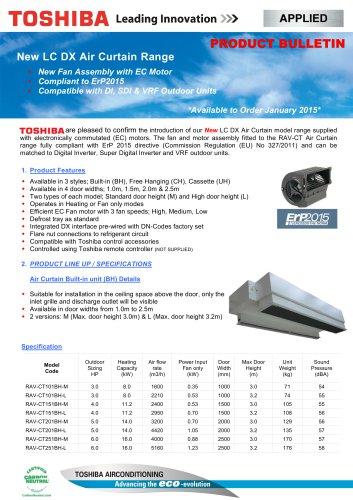New LC DX Air Curtain Range