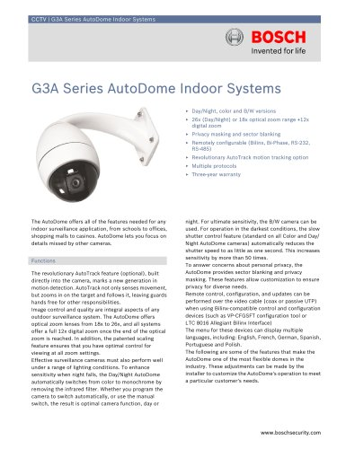 G3A Series AutoDome Indoor Systems