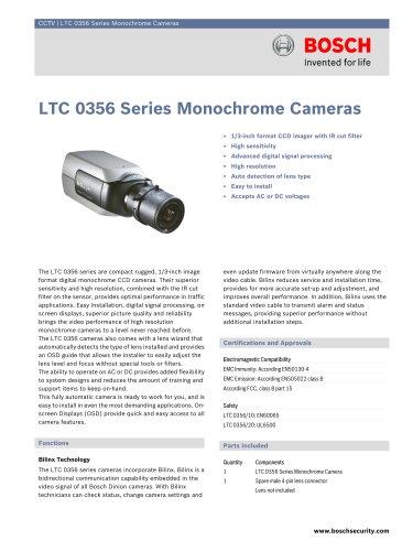 LTC 0356 Series Monochrome Cameras