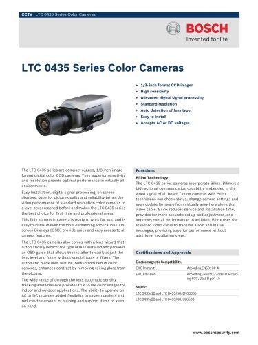 LTC 0435 Series Color Cameras
