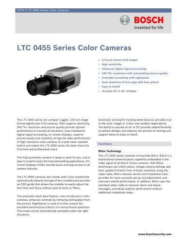 LTC 0455 Series Color Cameras