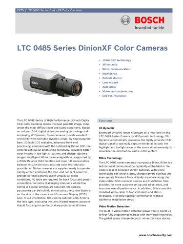 LTC 0485 Series DinionXF Color Cameras