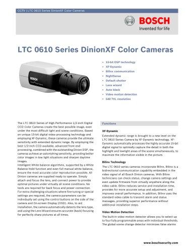 LTC 0610 Series DinionXF Color Cameras