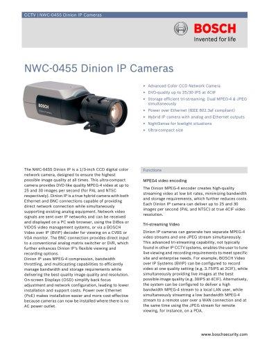 NWC-0455 Dinion IP Cameras