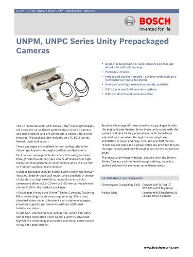 UNPM, UNPC Series Unity Prepackaged Cameras