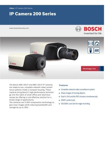 Vidéo/IP Cameras:IP Camera 200 Series